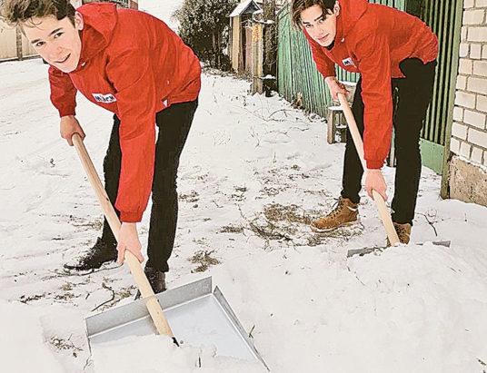 Мы выбираем помощь пожилым людям! Зимний сезон