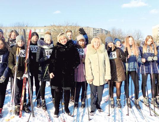лыжники, школьники, минск