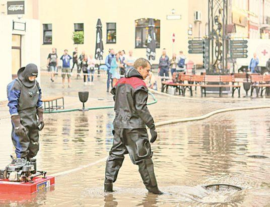 ливень в Минске, повреждения