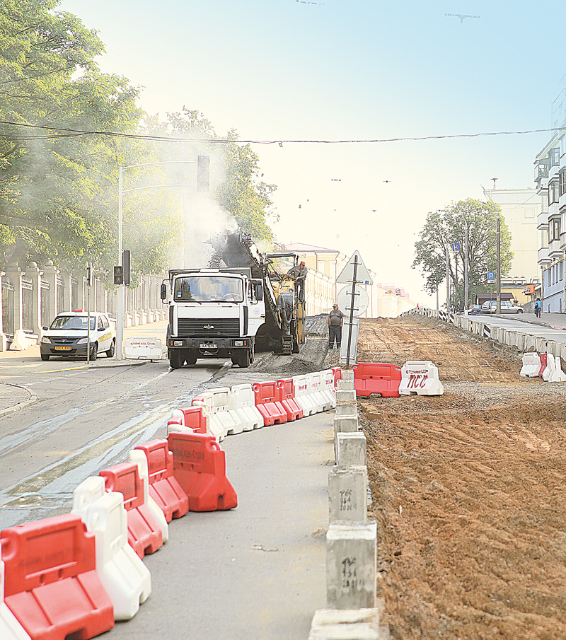 ремонт трамвайных путей