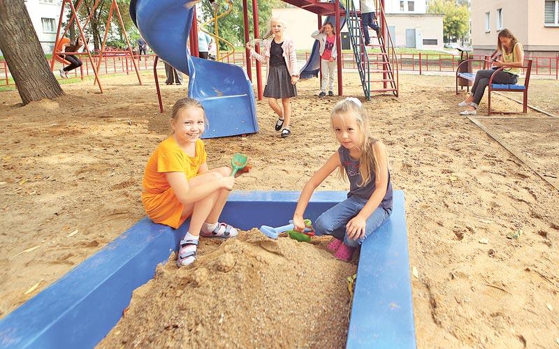 дети, двор, песочница