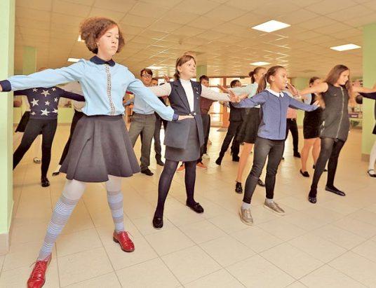 танцы, школьники