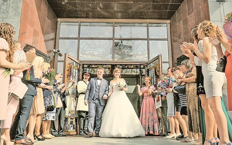 свадьба, молодожены, минск