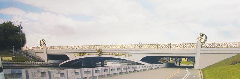 мост через Свислочь, реконструкция