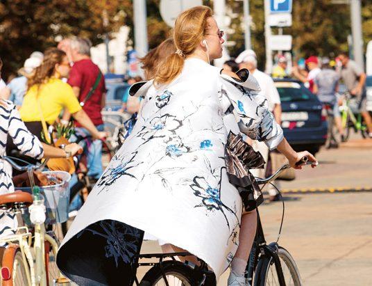 велосипед, женщина