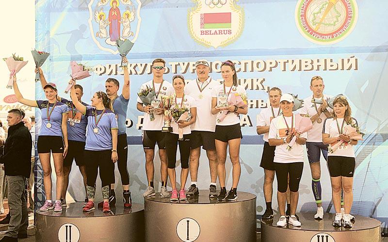 александр лукашенко, победители забега на роликах, день города