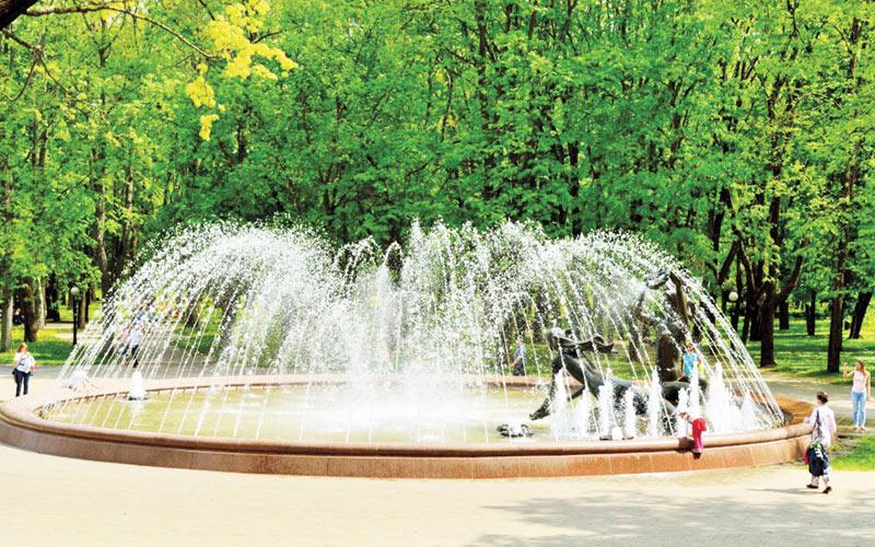 фонтан в парке Купалы, минск