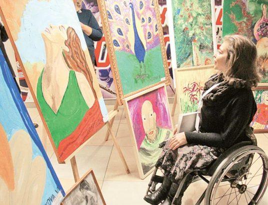 инвалид, выставка