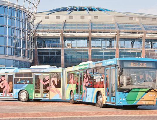 маз, новый автобус, европейские игры