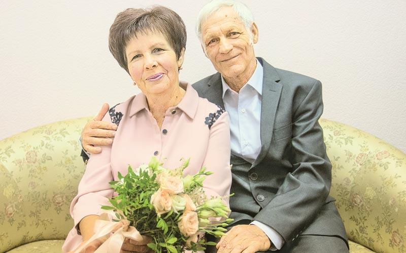 Инесса и Леонид Матарас, золотая свадьба