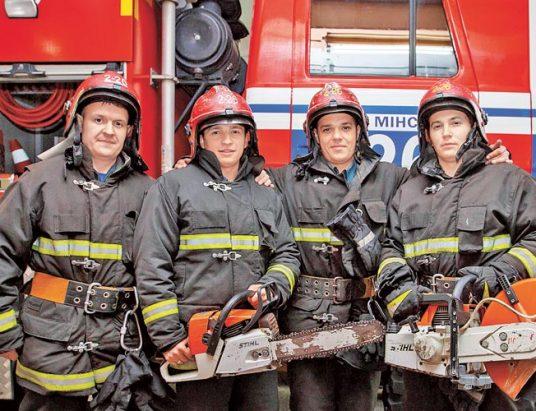 пожарные, минск