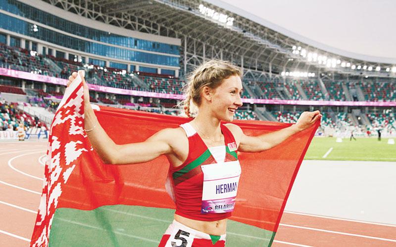 Эльвира Герман, легкая атлетика