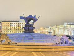 фонтан, площадь независимости