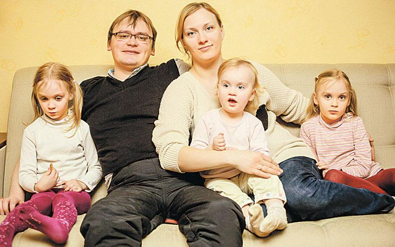 Дмитрий Соловей и дочки