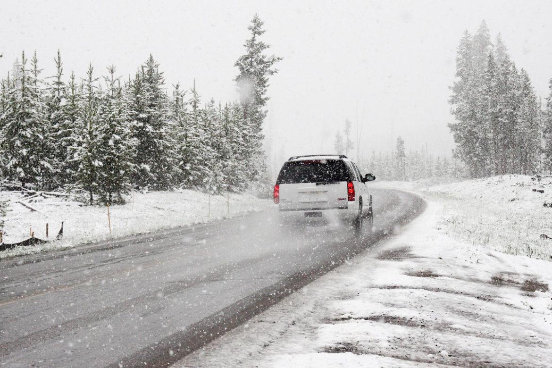 машина, зима