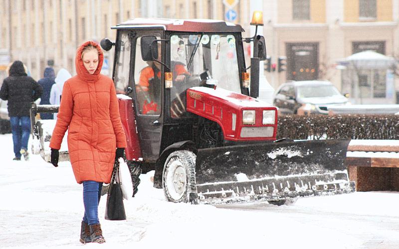 зима, уборка улиц