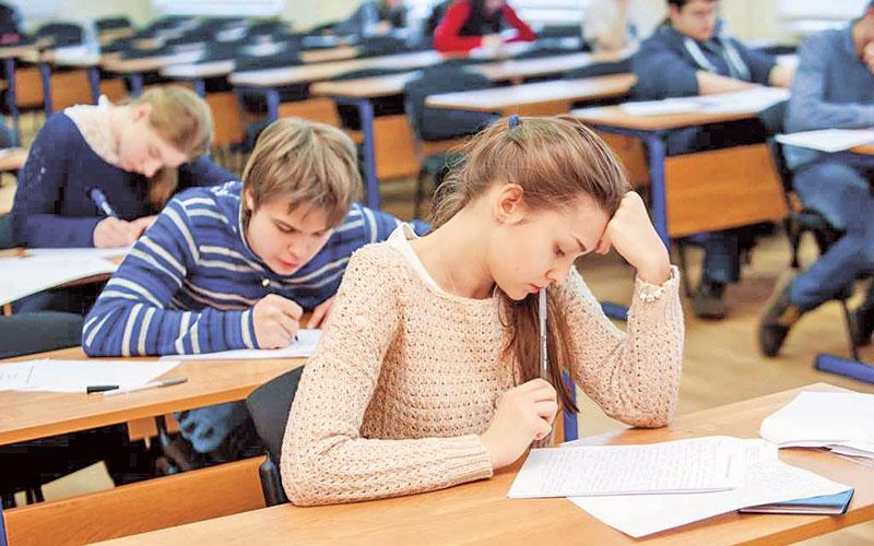 школьники, экзамен