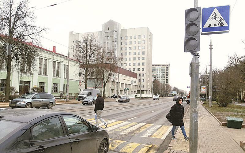 пешеходный переход, ул якуба коласа