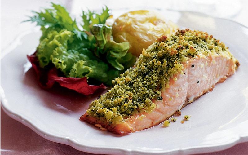 Филе рыбы под овощной шубой