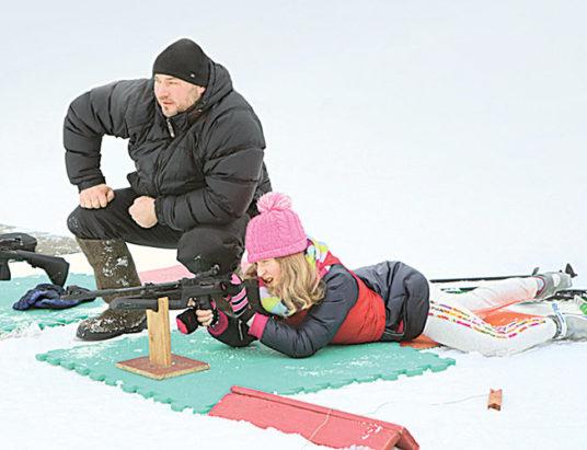 снежный снайпер, биатлон