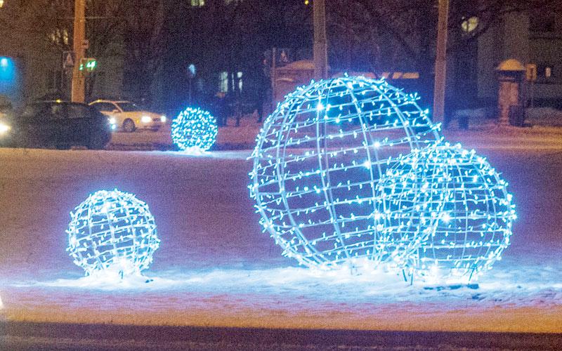 светящиеся шары, минск