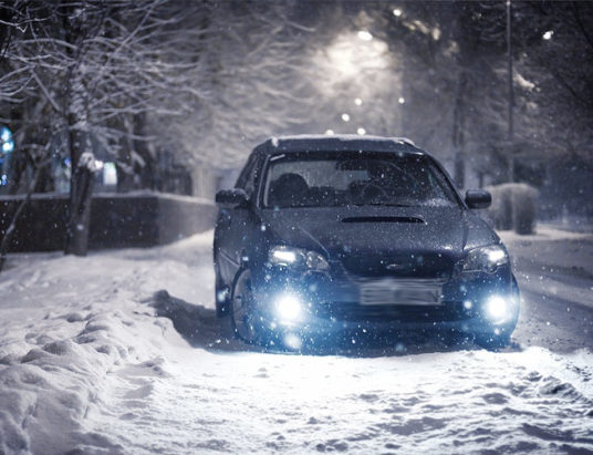 зима, машина