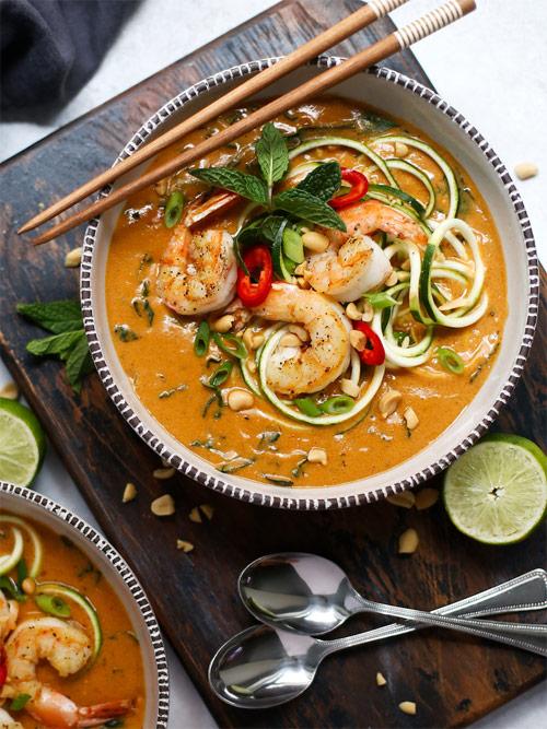 Тайский суп скреветками