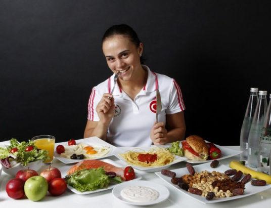 спортсмен, еда