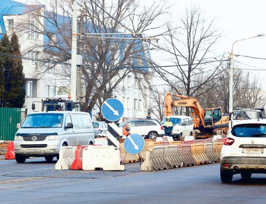 Реконструкция улицыК. Цеткин
