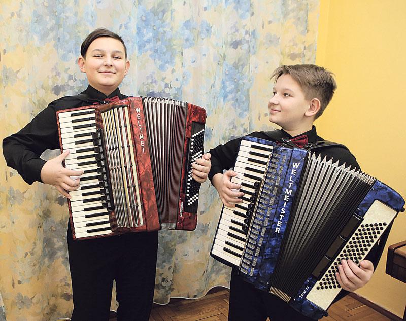 дуэт аккордеонистов братьев Вергейчик